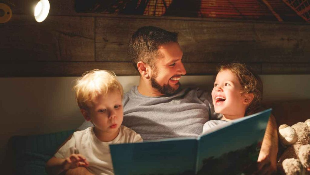 bedtime routine with kids