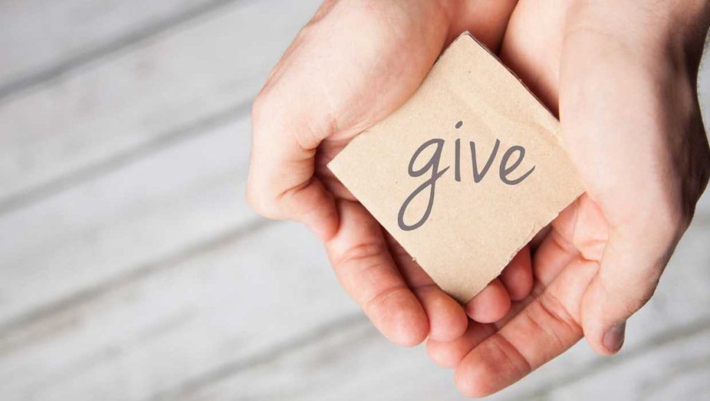 teach your child how to give